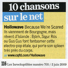 "Review in ""Les Inrocks #705"""
