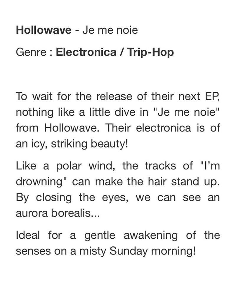 """Je me noie – EP"" reviewed at HomeCooking Share"